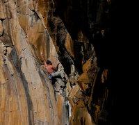 Rock Climbing Photo: David Bloom on Rough Around the Edges 5.11