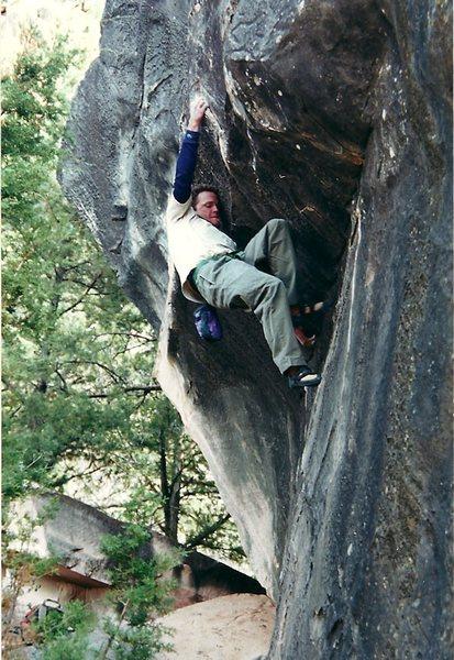 Rock Climbing Photo: Mark Adams dialing in Black Tide.