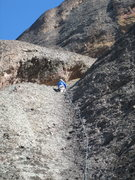 Rock Climbing Photo: 5-December-2009: Me leading Dos Equis (5.8)  Pic b...