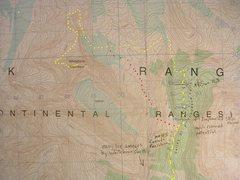 Rock Climbing Photo: West Ridge, Mount Whitehorn contour interval:  100...