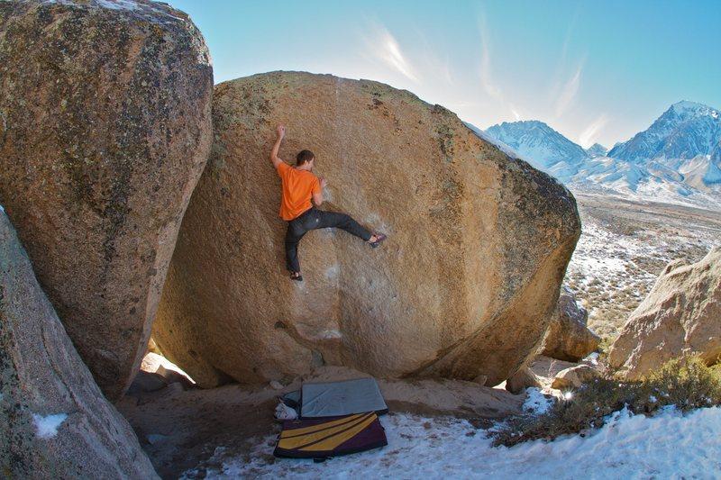 Rock Climbing Photo: Crisp crimps on a beautiful December day.