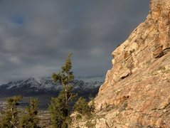 Rock Climbing Photo: The lip of the liberty crack roof jutting out near...