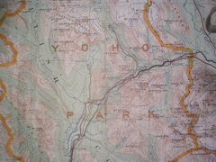 Rock Climbing Photo: Old Yoho Map contour interval: 250 feet six mile g...