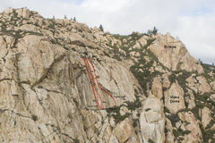 Rock Climbing Photo: Sunken Treasure and the routes to either side from...