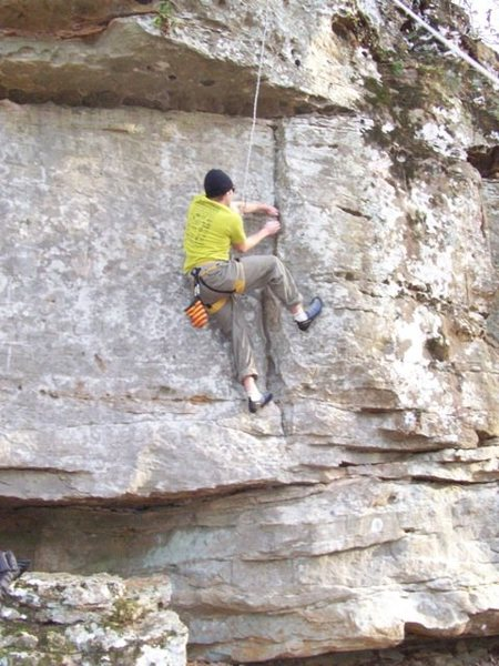 Rock Climbing Photo: Mark Top Roping at Colbert Heights December 9th 20...