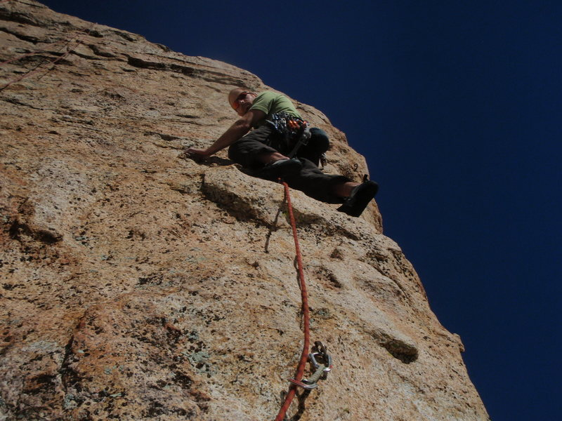 Rock Climbing Photo: looking up the areté, right before the crux