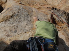 Rock Climbing Photo: This is me on the starting move....  took me sever...