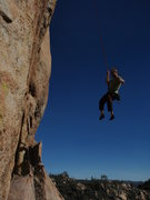 Rock Climbing Photo: coming down from my first lead of this climb...  l...