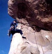 Rock Climbing Photo: The Roof 5.9 Joshua Tree, CA