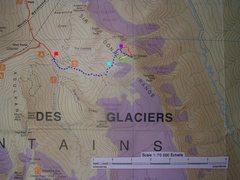 Rock Climbing Photo: Mount Sir Donald Map contour interval:100 meters  ...
