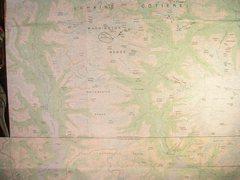 Rock Climbing Photo: Waddington Range Map contour interval: 200 meters ...