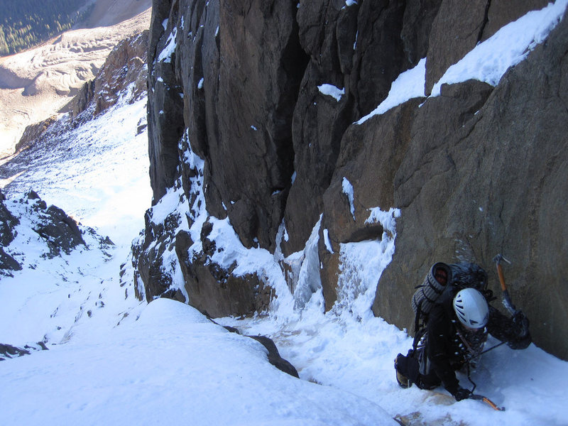 Snake Couloir, October, 2010.