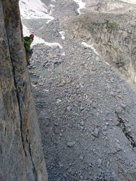 Rock Climbing Photo: high on Jaded Lady, Mt. Hooker