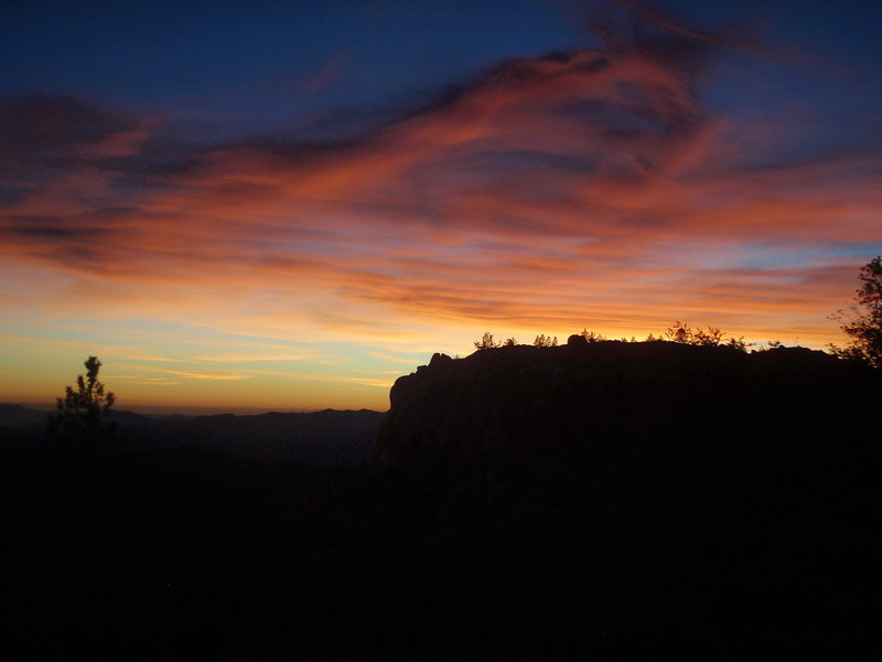 An impressive and symbolic sunset after such a great day of climbing.