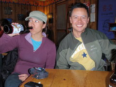 Rock Climbing Photo: my buddies enjoying a beer after a successful J-Tr...