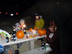 Rock Climbing Photo: Halloween at J-Tree 2009 That's me as Count Chocul...