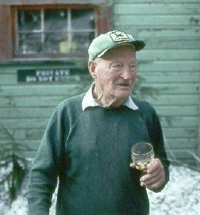 Harry Randall Truman (October 30, 1896 – May 18, 1980) was a resident of the U.S. state of Washington who lived on Mount St. Helens and came to brief fame in the months preceding the 1980 eruption after stubbornly refusing to leave. He was the owner of Mount St. Helens Lodge at Spirit Lake. The lodge was located at the foot of the mountain, and was in the danger zone at the time of the eruption.<br> Wikipedia photo.