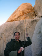 Rock Climbing Photo: Jason Haas pulling the rope after battling The Sti...