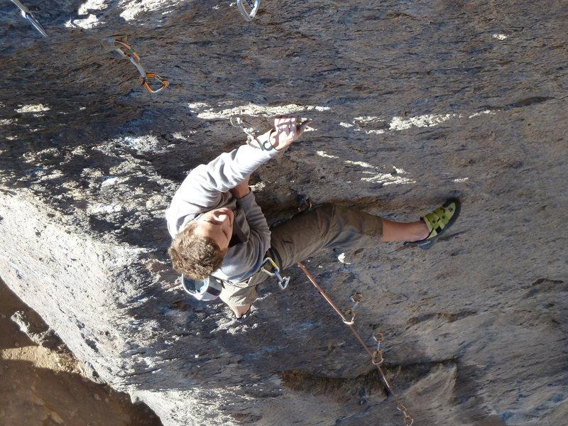 Rock Climbing Photo: Nat enjoying an unseasonably warm December morning...