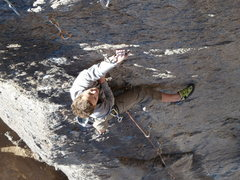 Rock Climbing Photo: Nat enjoying an unseasonably warm December morning...