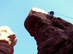 Rock Climbing Photo: Geoff on the Phallus