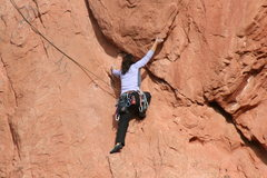 Rock Climbing Photo: Myong on Finger Ramp.