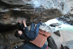 Rock Climbing Photo: Stefan L on Animal, V10. (Note, this pic was taken...