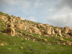 Rock Climbing Photo: Lower Wild West, Split rocks