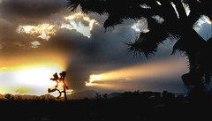 Rock Climbing Photo: Another backyard sunset. Photo by Blitzo.