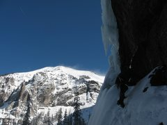 Rock Climbing Photo: BVF, Feb. '08. Is that Dreamstream in the backgrou...