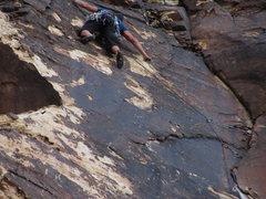 Rock Climbing Photo: corona... run out 10 crux.. no pro brittle flakes....