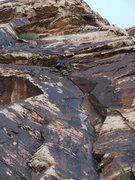 Rock Climbing Photo: corona.. runout 10 on dangerous flakes...