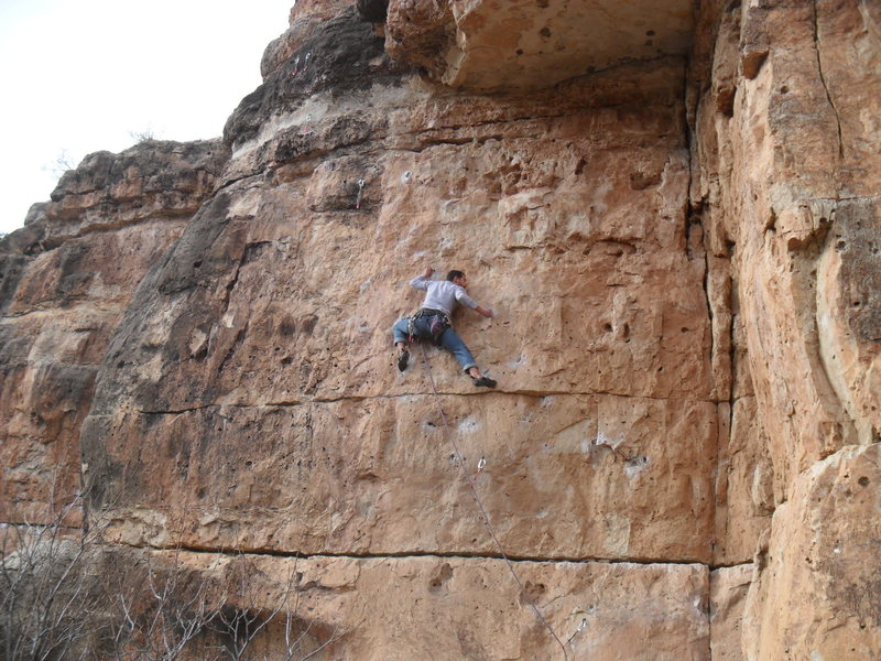 Rock Climbing Photo: Ninja attack! haha