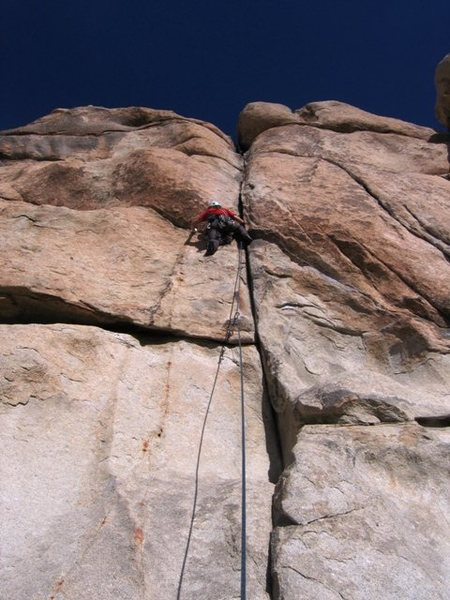 Rock Climbing Photo: The P girl forgets to clip the bolts on Double Cro...