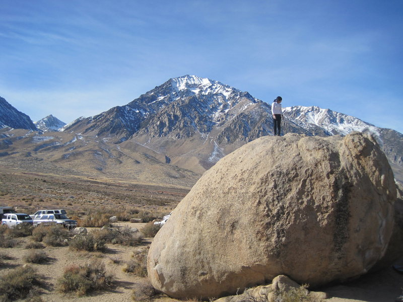 Jen on top of Birthday Boulders