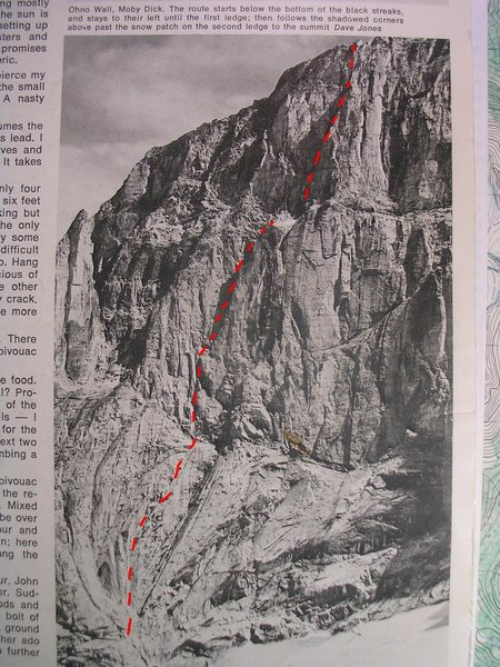 Rock Climbing Photo: Photo by Dave Jones from CAJ, 1972