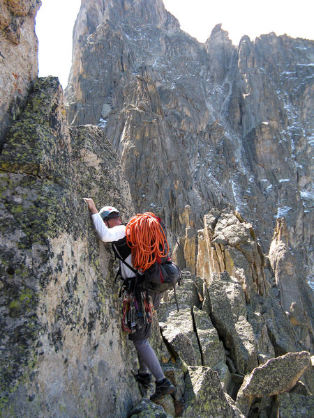 Rock Climbing Photo: Between Limbo & Iroquois on the Mohling Traverse.