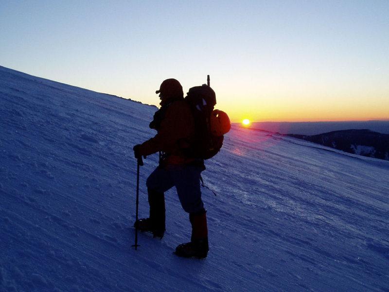 Rock Climbing Photo: Hood-Sunrise