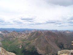 Rock Climbing Photo: Photo Taken from the summit of Mt. Elbert