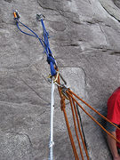 Rock Climbing Photo: Guide mode. Sling connecting directly from harness...