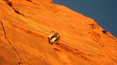 Rock Climbing Photo: perfect .4 lay-backing.  Save two bd .5s and .75s ...