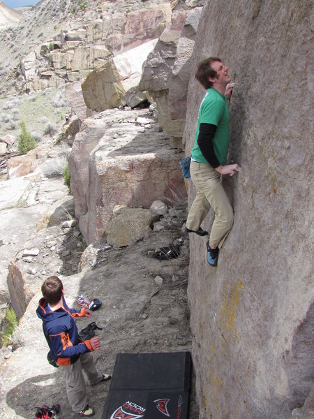 "Rock Climbing Photo: First Ascensionist Chad Witbeck ""spotting&quo..."