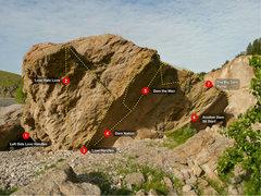 Rock Climbing Photo: the big dam boulder, facing east.