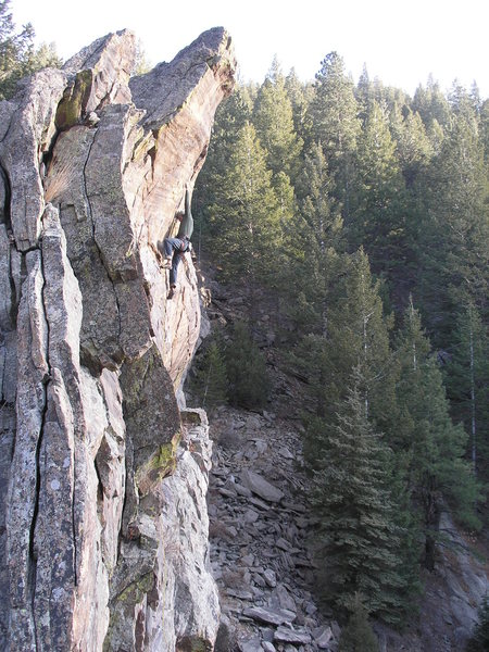 Rock Climbing Photo: Entering the crux.