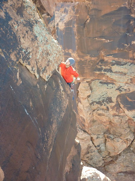Jake Warren following pitch 2 of Satan's Revenge.