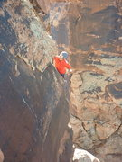 Rock Climbing Photo: Jake Warren following pitch 2 of Satan's Revenge.