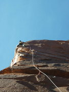 Rock Climbing Photo: Jake Warren leading the first pitch of Dolofright.