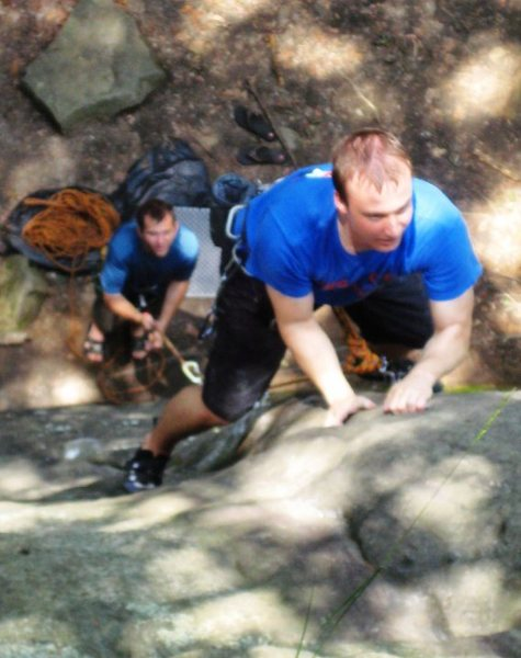 Rock Climbing Photo: Jim leading Five Nine