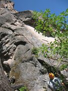 Rock Climbing Photo: The majority of the route visible here.  Steeper t...