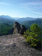 Rock Climbing Photo: Diamond Peak from the top of Main Street.  The anc...